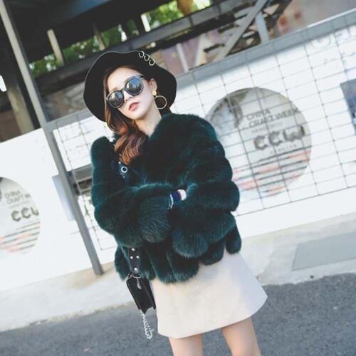 Jacket Outerwear Warm Women Kort Luxury Thick F4 Fur Overcoat Occident Winter w8Z1A