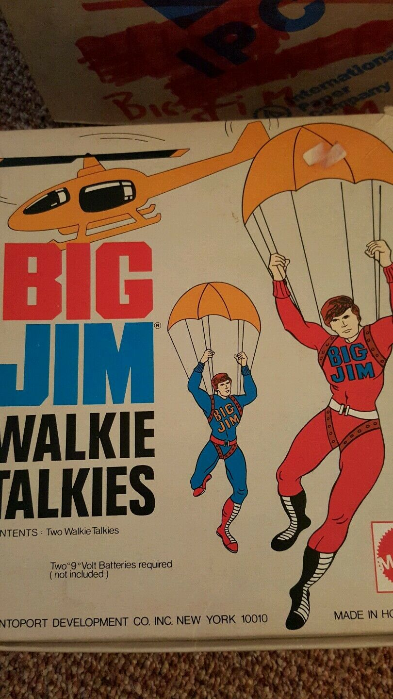 Big Jim Walkie Talkies 1973 Mattel Hong Kong Vintage