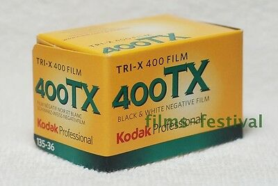 3 rolls KODAK 400TX 35mm 36exp B&W 135 Film 400 TRI-X expired 04/2014