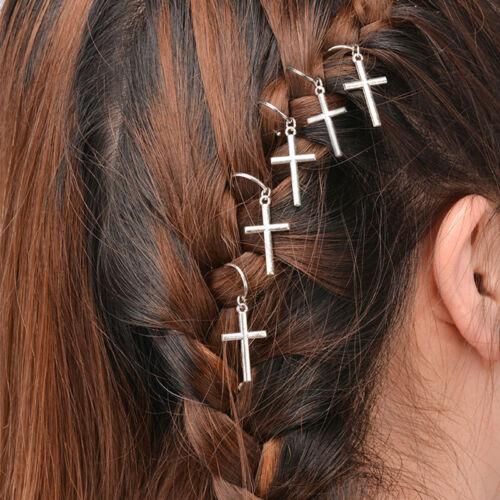 Women Hip-Hop Twist Braid Hair Ornament Circle Hoop Hair Clip DIY Pendant-WI
