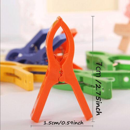 8Stk Kunststoff Wäsche Kleidung Strandtuch Pins Kleiderbügel Federklemme Clip cn