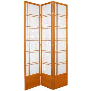 Oriental Furniture 7 ft. Tall Double Cross Bamboo Tree Shoji Screen