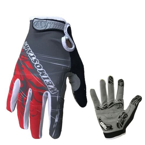 Details about  /High Quality Shockproof Gel Padded Full Finger Men Bike Racing Cycling Gloves