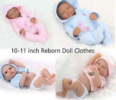 "For 10/""-11/'/' Mini Newborn Reborn Doll Clothes Outfit Baby Girl Boy Doll Clothing"