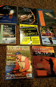 Lot-of-8-Fly-Fishing-Books-Tying-Fishing-Ties-How-To-Techniques-Tactics