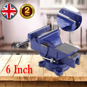 6 Table Bench Vise Woodworking Clamp Vice Swivel Base Carpentry Diy