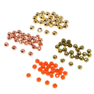 Fly Tying Painted Tungsten Beads 24 colours 6 sizes very dense deep sinking