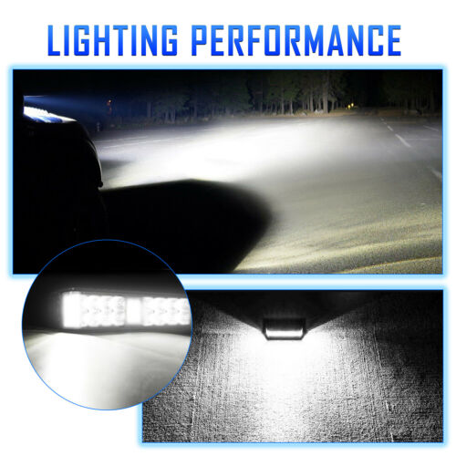 2PC 6 Inch 800W LED Pods Work Light Bar Spot Beam 4WD SUV Offroad Boat Light
