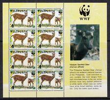 (RP97B) PHILIPPINES - 1997 ANIMALS MINIATURE SHEETS. DEER, PIG, WWF. MUH