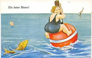 BG33666-a-fat-bite-fish-john-wills-comic-germany-nice-artist-signed