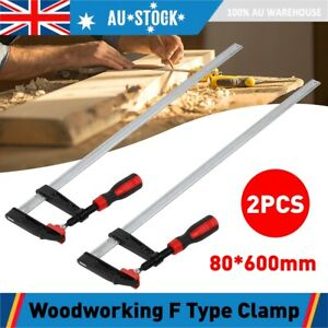 2pcs 80 600mm F Type Clamp Wood Woodworking Clamp Clip Bar