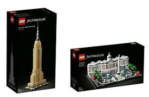Lego Architecture 21045 + 21046 Trafalgar Square + Empire State Building Presale-afficher Le Titre D'origine Rendre Les Choses Commodes Pour Le Peuple