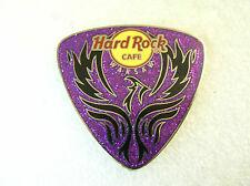 WARSAW,Hard Rock Cafe Pin,Purple Guitar Pick