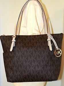 Jet Set Item EW Top Zipped Tote Bag in Black Saffia Leather Michael Michael Kors 8l4wgy