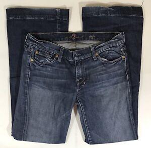 Flare Dark Størrelse Leg Seven 'dojo' For Jeans All 29 Wash Women Euc Mankind 0Hqzza