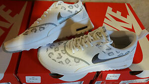 Womens NIKE Air Max Thea Sneakers Leopard Cheetah Shoes NEW White Gray ALL SIZES