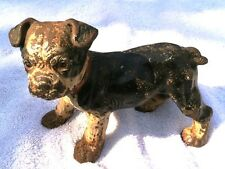 "Hubley Cast Iron Boston Terrier ""Standing"" Puppy Dog Doorstep"