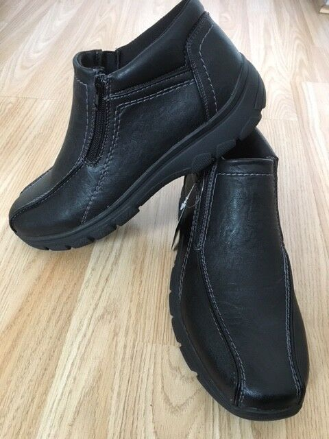New   Up Fur Lined pratiquer Diabetic Zip Up  Black Walk Boots Shoes Light Size 5f7023
