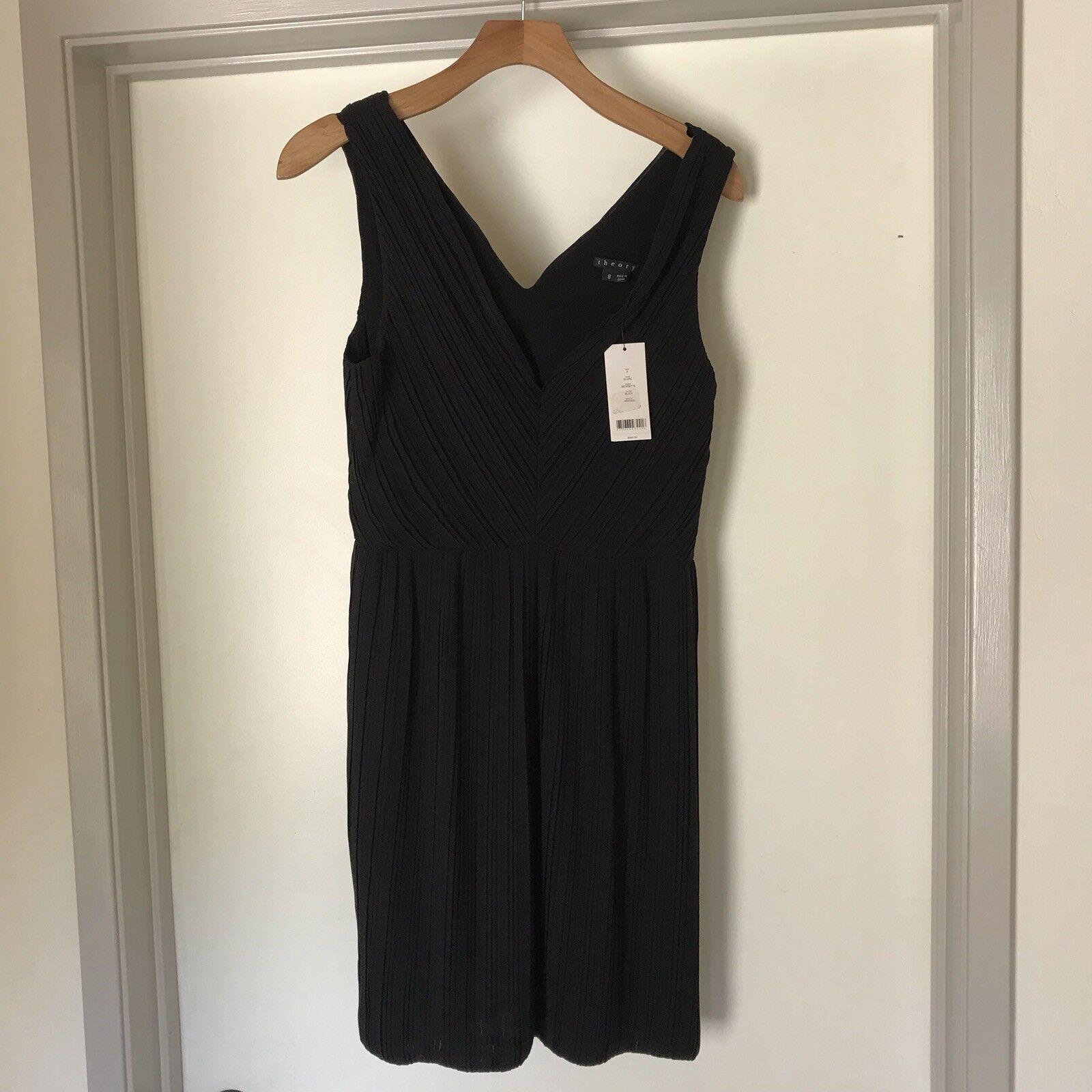 NWT Theory Dress schwarz Blair Größe 8 Retail