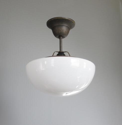 Plafonnier Lampe Style Art Déco en Opal Verre Lampe Lustre Laiton Antique Lampe pilzlampe
