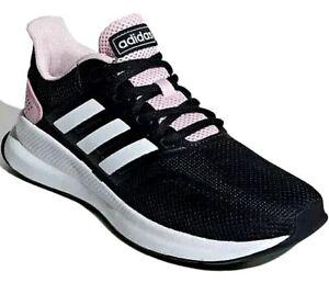 Detalles de Nueva camiseta para mujer Zapatillas Running Mujer Adidas  runfalcon EF0152 Negro/Rosa Talla Reino Unido 8- ver título original