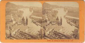 Suisse Thun E Il Lac Foto J.Andrieu Stereo Vintage Albumina Ca 1868