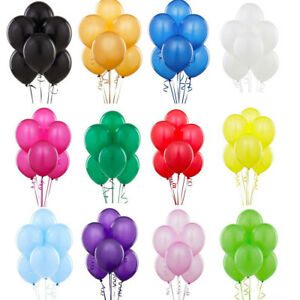 100-PLAIN-BALONS-BALLONS-HELIUM-amp-AIR-BALLOONS-QUALITY-PARTY-BIRTHDAY-WEDDING