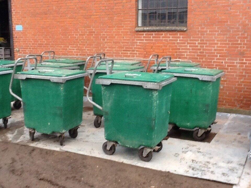Affaldscontainer 400 liter - glasfiber