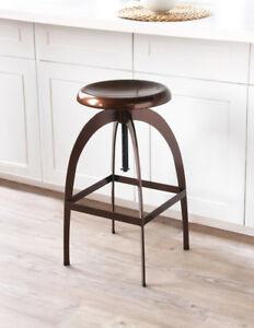 Tremendous Details About The Rocket Industrial Retro Bronze Cafe Kitchen Counter Bar Stool 66 85Cm Machost Co Dining Chair Design Ideas Machostcouk