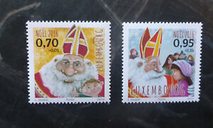 2016-LUXEMBOURG-CHRISTMAS-039-SANTA-039-SET-OF-2-MINT-STAMP-MNH