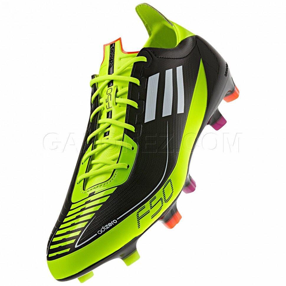 Para Para Para Hombre Adidas F50 Adizero Prime FG Negro Amarillo G42168 Botines De Fútbol Talla 12.5 EE. UU. 54d1a8
