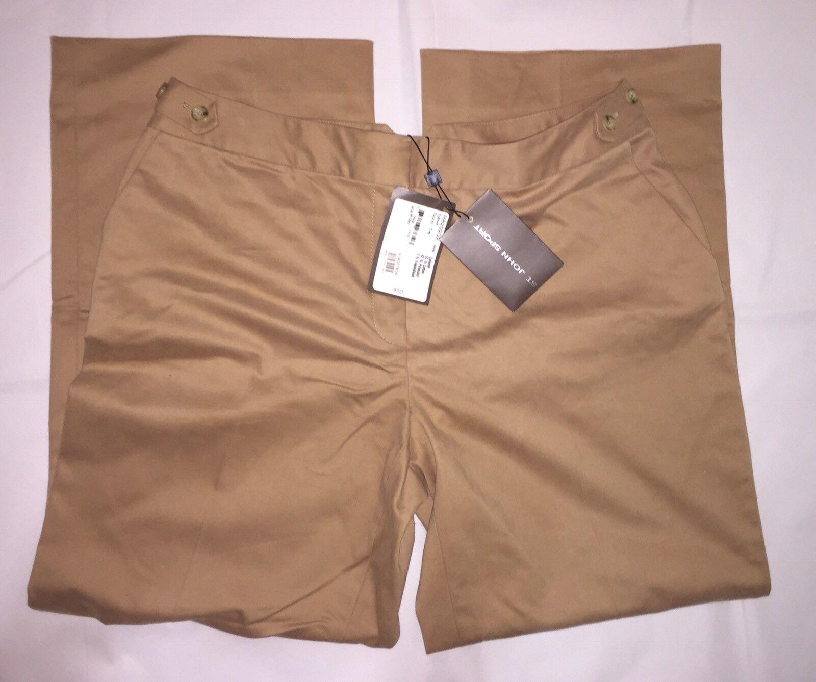 St. John Sport Dress Pants 14 Auburn NWT Trousers Slacks (Retail  325.00)