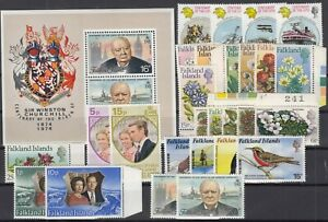 X2158-BRITISH-FALKLAND-1972-1974-MINT-MNH-MODERN-LOT-CV-160