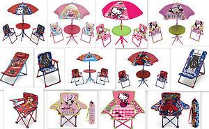 Kinder Gartenmöbel AUSWAHL Gartensitzgrup<wbr/>pe Sonnenschirm Kindertisch Tisch Stuhl