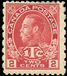 Canada-Mint-H-1915-16-F-Scott-MR5i-2c-1c-War-Tax-Stamp