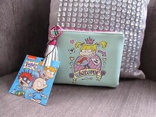 Nickelodeon Rugrats Angelica Turquoise/pink zipped Purse new with tags
