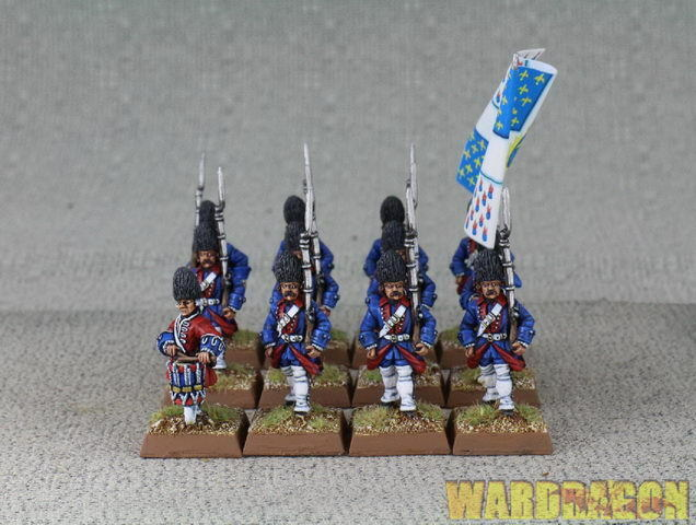 1 56 28 mm Wds Pintado Seven Years War Syw francés Granaderos e37
