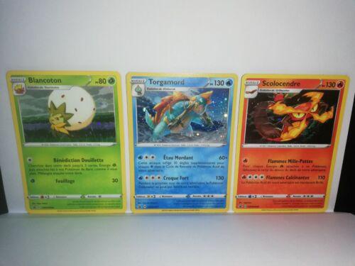 Carte Pokémon PROMO BLANCOTON SCOLOCENDRE SWSH046 047 TORGAMORD 048 FR