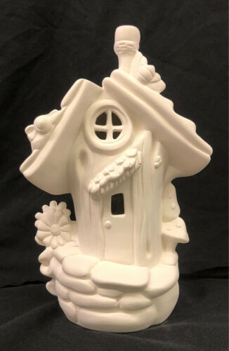 Ceramic Bisque Fairy House Bumblebee Abode Fairy House Ready to Paint U Paint