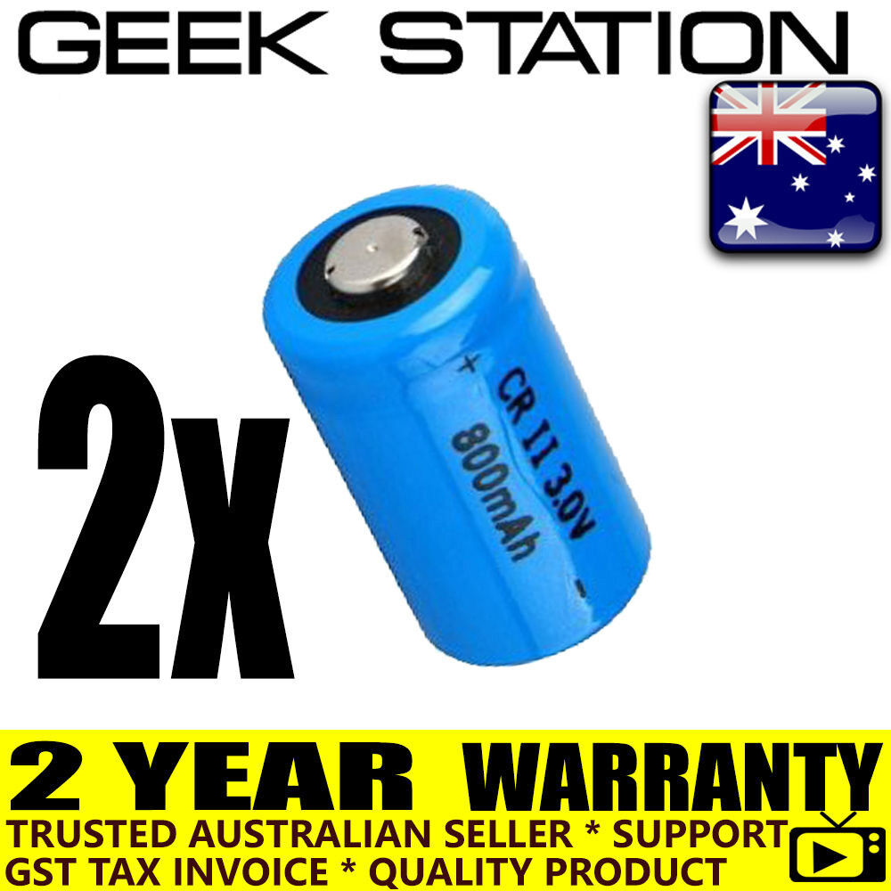 2x CR2 replacement battery 2 year aust warranty