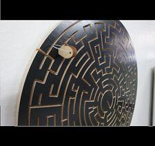ROUND Key Maze - BLACK Version - for Escape Rooms - Escape Room Puzzle and Prop