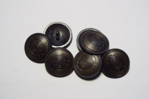 8pc 20mm Crested Old Gold Metal Military Blazer Coat Cardigan Button 2823