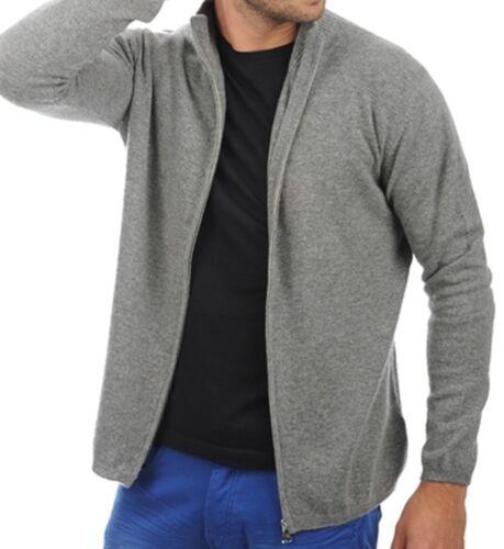Balldiri 100/% Cashmere Kashmir Uomo Giacca In Maglia 2-fädig grigio mélange XL