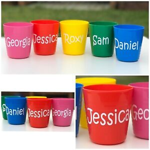 5 X Personalised Plastic Party Cups