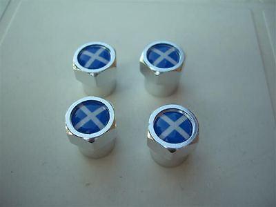 ST ANDREWS SCOTTISH FLAG SCOTLAND TYRE VALVE CAPS NEW