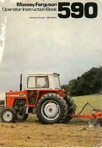 massey ferguson tractor 590 operators manual mf590 ebay rh ebay co uk Massey Ferguson Operators Manual massey ferguson 590 manual