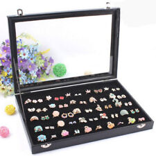 100 Earring Ring Jewellery Display Storage Box Tray Show Case Organiser Holder