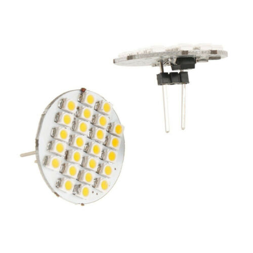 2 Pcs Car Auto Warm Weiß 1210 SMD 24 LEDs Vertical G4 Back Pin Light Bulb