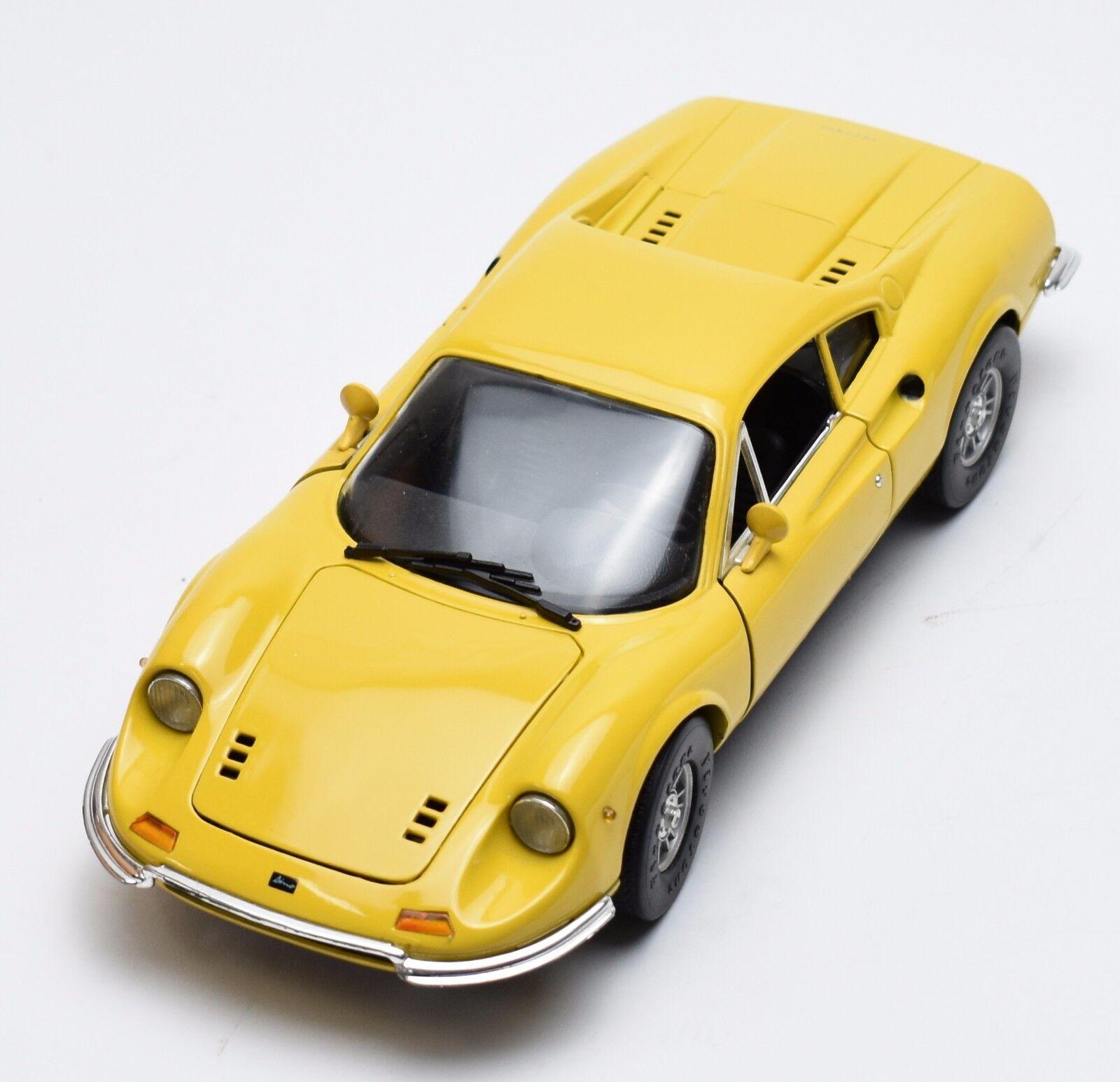 Anson rareza Ferrari Dino 246 GT auto deportivo en amarillo lacados, OVP, 1 18, k037