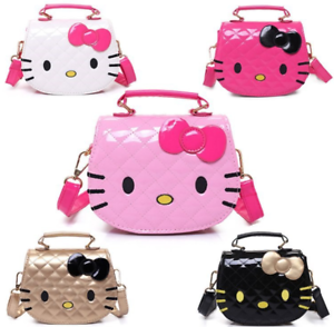 3ac46054a Pink Hello Kitty Girl's Black Handbag Shoulder Messenger Bag Cute ...